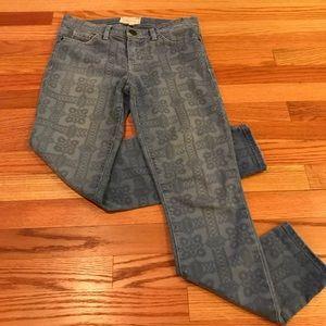 Current Elliott navy bandana jeans